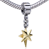Charms Beads - golden star fit all brands dangle european beads charms bracelets Image.