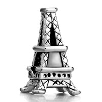 Charms Beads - silver plated paris eiffel tower european bead charms bracelets Image.