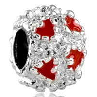 Charms Beads - silver red heart charm bracelet love european infant charm bead Image.