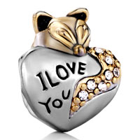 Charms Beads - cute fox i love you beads charms bracelets beads charms bracelets Image.