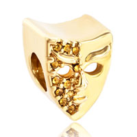 Charms Beads - november birthstone mask golden european bead charms bracelets Image.