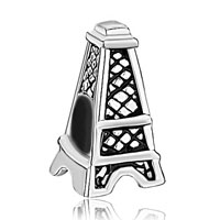 Sterling Silver Jewelry - eiffel tower 925  sterling jewelry fit beads charms bracelets all brands Image.