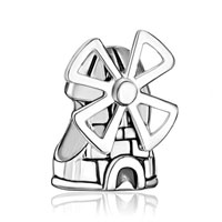 Sterling Silver Jewelry - windmill tower sterling silver fit beads charms bracelets all brands Image.
