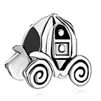 Sterling Silver Jewelry - 925  sterling silver jack o lantern halloween pumpkin car beads charms bracelets fit all brands Image.