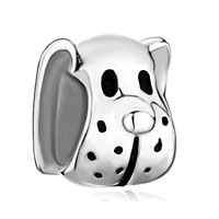 Sterling Silver Jewelry - 925  silver cute puppy dog animal fit beads charms bracelets all brands Image.