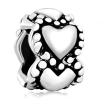 Sterling Silver Jewelry - 925  sterling silver hearts love fits beads charms bracelets fit all brands Image.