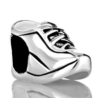 Sterling Silver Jewelry - 925  sterling silver sports shoes jewelry gift fits beads charms bracelets fit all brands Image.