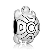 Sterling Silver Jewelry - cute tortoise 925  sterling silver jewelry fit beads charms bracelets all brands Image.