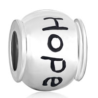 Sterling Silver Jewelry - 925  sterling silver round words hope jewelry beads charms bracelets fit all brands Image.