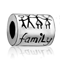 Charms Beads - silver plated family life european infant charm bead charm bracelets Image.