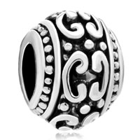 Charms Beads - silver plated victorian pattern european bead charms bracelets Image.