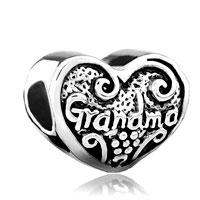 Charms Beads - heart charm bracelet love grandma charm beadbeads & charm bracelets Image.