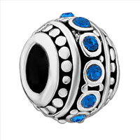 Charms Beads - deep blue crystal beads charms bracelets beads charms bracelets Image.