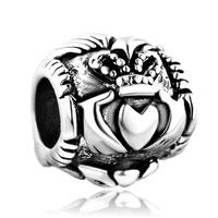 Vintage Silver P Irish Claddagh Best Friend Big Hole Beads Charms Bracelets Fit All Brands