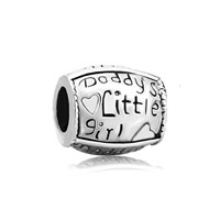 Sterling Silver Jewelry - pugster?  sterling silver words daddy' s little girl for beads charms bracelets fit all brands Image.
