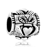 Sterling Silver Jewelry - pugster?  sterling silver irish claddagh fits beads charms bracelets fit all brands Image.