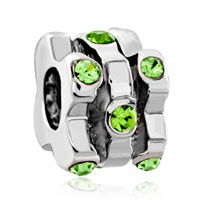 Charms Beads - silver plated swarovski crystal european bead charms bracelets Image.