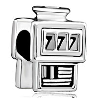 Charms Beads - slot machine casino 777 silver beads charms beads charms bracelets Image.