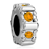 Charms Beads - november births citrine topaz crystal wheel gear holiday bead charm Image.