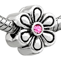 Charms Beads - big flower october birthstone fit beads charms bracelets all brands Image.