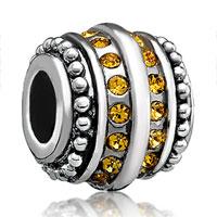 Charms Beads - topaz yellow bling swarovski victorian charm bead charm jewelry Image.