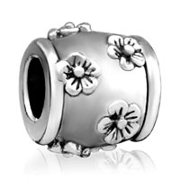 Charms Beads - silver plated many floral european bead charms charms braceletss Image.