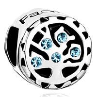 Charms Beads - aquamarine blue crystal family tree of life bead charm bracelets Image.