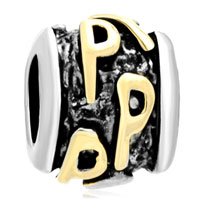 Charms Beads - golden letter bracelet charms initial p classic alphabet beads Image.