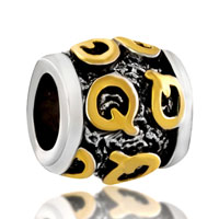 Charms Beads - golden q classic pattern alphabet european bead charms bracelets Image.