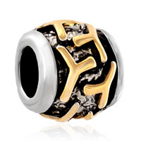 Charms Beads - golden letter initial y classic alphabet fit all brands two tone plated beads charms bracelets Image.