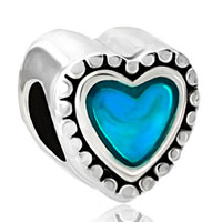 Charms Beads - blue heart fit all brands beads charms bracelets Image.