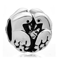 Charms Beads - silver two turtle doves european infant charm bead charms bracelets Image.