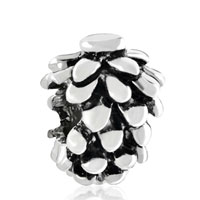 Charms Beads - silver mothers day s snowy pinecone european bead charms bracelets Image.