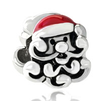 Silver Santa European Bead Charm Bracelets Fit All Brands Bracelets