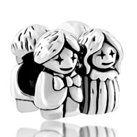 Charms Beads - silver bride bridegroom european infant charm bead charms bracelets Image.