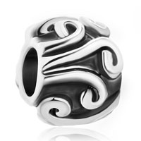 Charms Beads - silver plated tribal swirl infant beads charms bracelets fit all brands Image.
