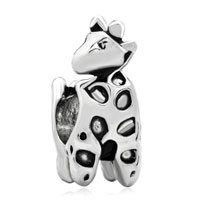 Charms Beads - silver deer animal charms for bracelets european infant charm bead Image.