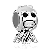 Sterling Silver Jewelry - cute goldfish 925  sterling silver jewelry fit beads charms bracelets all brands Image.