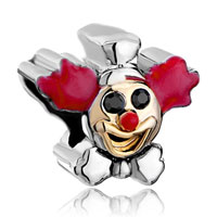 Charms Beads - pugster?  clown bowknot red drip flowers fit two tone plated beads charms bracelets all brands Image.