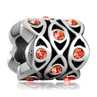 Charms Beads - silver evil eye charm bracelet crystal charm flowers european bead Image.