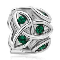 Charms Beads - may births emerald green crystal celtic claddagh irish charm charm Image.