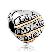 Charms Beads - heart charm bracelet love my mum clip lock stopper european bead Image.