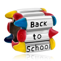 Charms Beads - colorful crayons back to school european bead designer charm bracelet Image.