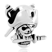 Charms Beads - halloween skull charm pirates of the caribbean captain jack bead Image.