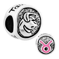 Charms Beads - silver silver tone taurus horoscope zodiac lucky charm bracelet Image.