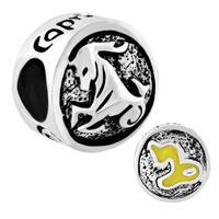 Charms Beads - silver tone capricornus horoscope zodiac lucky charms bracelets Image.