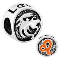 Charms Beads - silver plated silver tone leo horoscope zodiac lucky charm bracelets Image.