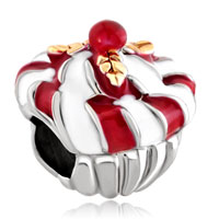 Charms Beads - silver plated jam cupcake european bead charm lucky charm bracelets Image.
