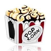 Charms Beads - hot food pop corn for beads charms bracelets fit all brands Image.