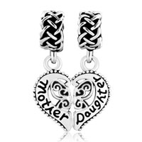 New Arrivals - heart love mother daughter family for beads charms bracelets fit all brands Image.